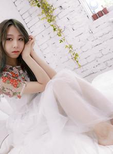 꽃이 피어난 샤 드레스