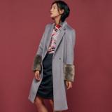 블리다 [VLEEDA] grey fur long coat