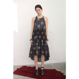 더센토르 SLEEVELESS LONG DRESS - BLACK