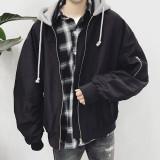 ★주문폭주★ 오버핏 셔링 후드 항공점퍼 / overfit hoody flight jumper (2color)