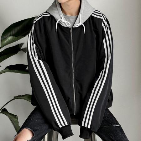 ★주문폭주★ 오버핏 테이프라인 후드점퍼 / overfit tape line jumper (4color)
