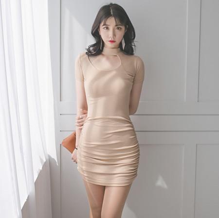 가슴트임 노출 셔링원피스 업소 클럽 섹시홀복