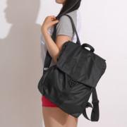 쓸데없이 고퀄 M-201 블랙 인조 가죽 백팩 /여성백팩/직장인여성백팩/가벼운여성백팩/여성캐주얼백팩/여행용백팩/데일리백팩/여자 20대 대학생 30대 직장인 백팩 가방