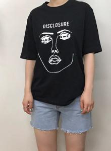 여자 프린팅 반팔 티셔츠