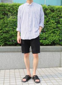 이지 스트라이프 차이나카라 셔츠 2color