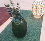 Vase dotted green small / 그린 도트 화병