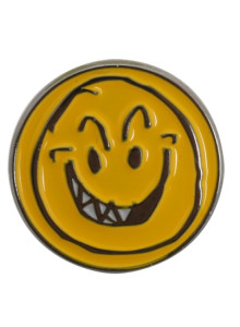MONKIDS Smile Face Pin (Yellow/White)