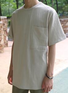 포켓 라이닝 박스 티셔츠 3color