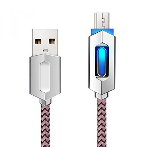 Skitic 1M High Speed Micro USB Cable 2A Nylon Braided Charging Cable/Data Cable with LED Light for : Buyingday - 네이버쇼핑