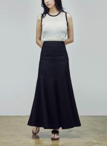 카인듀 / 린넨 스커트 / KINDEW linen skirt (black)