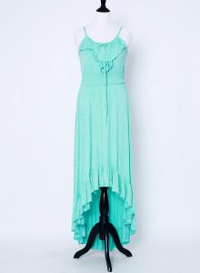 레이스업 러플 맥시 드레스