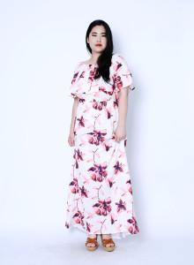 바이브 플로럴 맥시 드레스