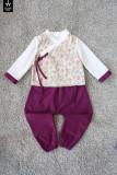 꽃배색 남아한복, 남아철릭생활한복 유아동 주니어 추석 생활한복 남매한복 남매룩 형제한복