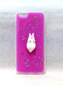 [자체제작] 잠자는 토끼 피규어 핑크 케이스 (아이폰/갤럭시)