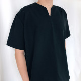 가르송 슬릿티 남자 반팔 블랙 셔츠