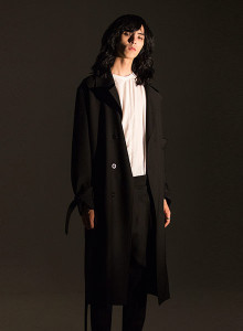 [노이어] Belted Wool Trenchcoat 노이어 벨티드 트렌치코트