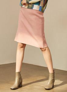 [블리다] [VLEEDA] pink wool midi skirt