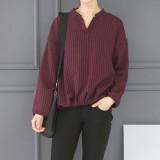 라인 셔링 긴팔 셔츠
