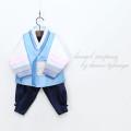 [한설한복]H.5529심플한 잉크 남자 아기한복