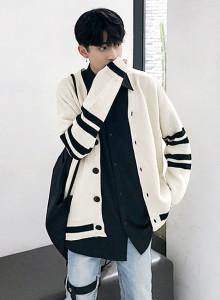루즈핏 라인 포인트 가디건 / loosefit line point cardigan (2color)