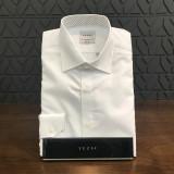 예작 도트도비 슬림 화이트 셔츠 YJ6FBP593
