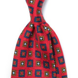 EUCLID PATTERN SILK PRINTED TIE 4TH