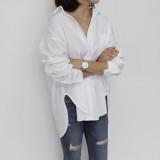 여성 루즈핏 화이트 셔츠