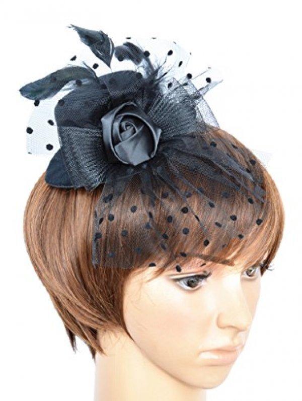 여자 Feather Fascinator 모자 헤어 클립 G-Black : 블랙시크 - 네이버쇼핑