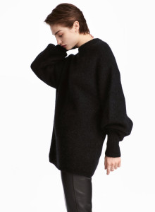 H&M 니트 스웨터 블랙