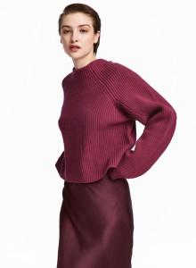 H&M 니트 울 스웨터 레드