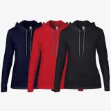 [무지] 여성용 얇은 후드 티셔츠 - USA fit (887L)