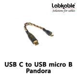랩케이블 USB C to USB micro B Pandora Cable 판도라 휴고2 디지털케이블