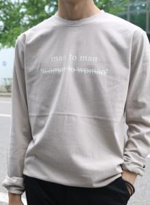MAN 오버 긴팔 티셔츠