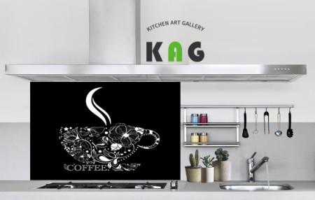 주방아트보드 키친아트갤러리(디자인)-커피하우스 블랙(Large사이즈)