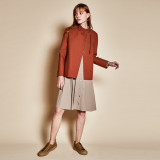 Standing collar jacket_brown