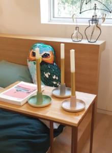 &K 70s candle holder large / 촛대 3종(그린,블루,핑크)