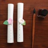 [젠틀웨이브] 롤링레터 벚꽃과 클로버 / 봄 감성 원고지 느낌 편지지 세트