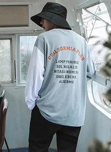 레터링 배색 루즈핏 티셔츠 / lettering loosfit t (3color)