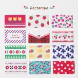 [젠틀웨이브] 데코스티커 사각 포인트 꾸미기 선물포장 / Deco Sticker-Rectangle