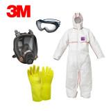 3M 보호복 석면세트 A형 (반면형마스크)