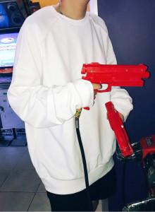 삥줄 남자 오버핏 무지 맨투맨 티셔츠 3color