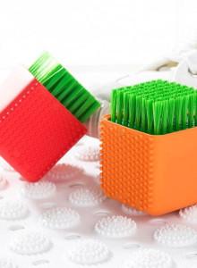실리콘 큐브 세탁솔