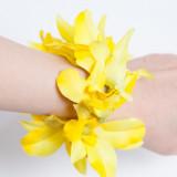 옐로우 꽃팔찌 하와이 훌라용품 /우쿨렐레 악세사리 훌라댄스