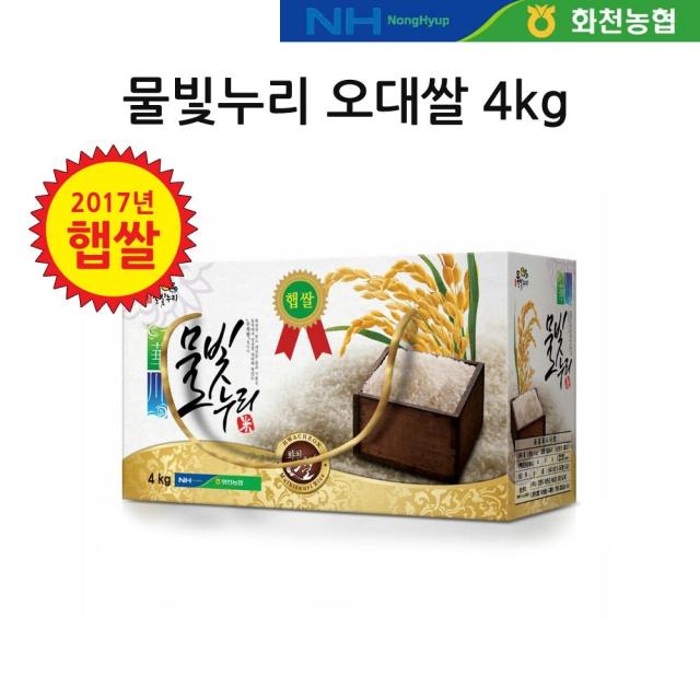 [2019년 햅쌀] 물빛누리 화천 오대쌀 4kg