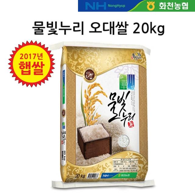 [2019년 햅쌀] 물빛누리 화천 오대쌀 20kg