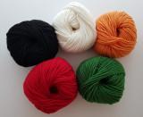 [5색 홀리데이 세트 /Holiday Set]수다스튜디오 추천 니트레터링 털실 5가지 색상 / 아이코드 털실/ 트리코틴 털실 /프렌치니트/니트레터링 도구