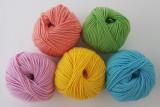 [5색 러블리 세트 / Lovely Set]수다스튜디오 추천 니트레터링 털실 5가지 색상 / 아이코드 털실/ 트리코틴 털실 /프렌치니트/니트레터링 도구