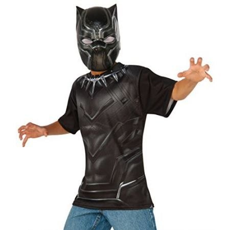 [해외] RUBIE'S COSTUME CAPTAIN AMERICA CIVIL WAR BLACK PANTHER CHILD TOP AND 가면, LARGE : Songsongshop - 네이버쇼핑