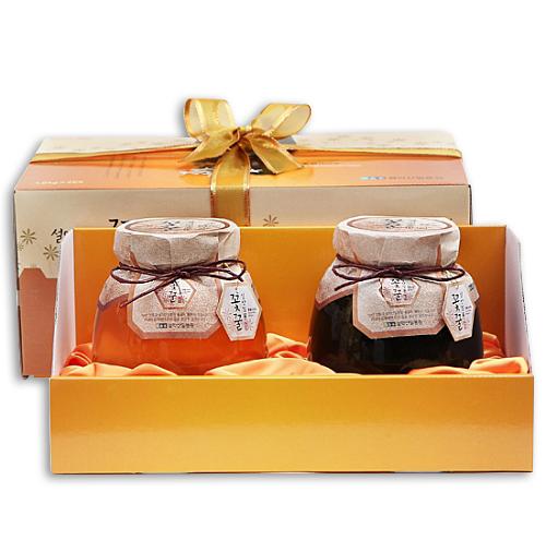 gw_[꽃꿀100%] 꿀단지선물세트(아카시아꿀1.0kg+밤꿀1.0kg)