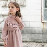 (겨울신상)플로 포지타원피스[핑크, 크림] 5호~13호
